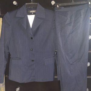 Kasper blue pin stripe suit set